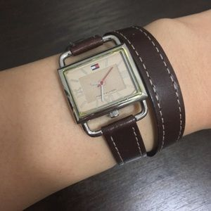 Tommy Hilfiger leather watch